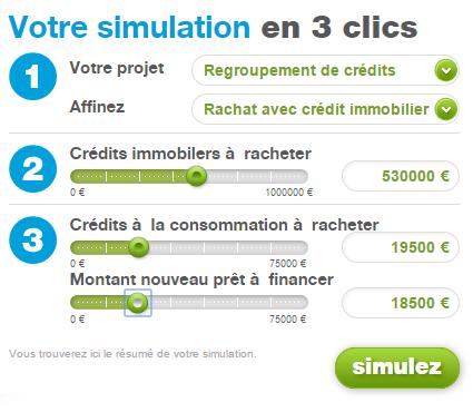 simulation rachat de crédit cetelem