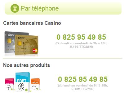 contact banque casino téléphone