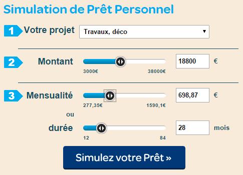 simulation pret carrefour banque