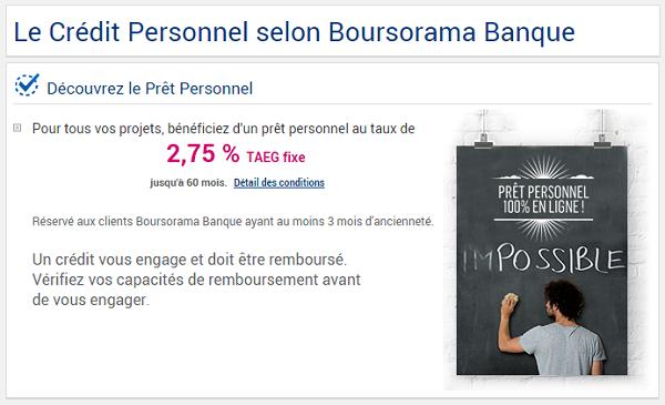 pret Boursorama Banque