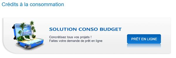 crédit LCL Solution conso budget