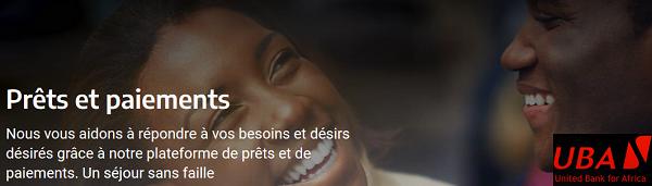 pret UBA Cameroun Sénégal Cote d'Ivoire Mali financement en Afrique